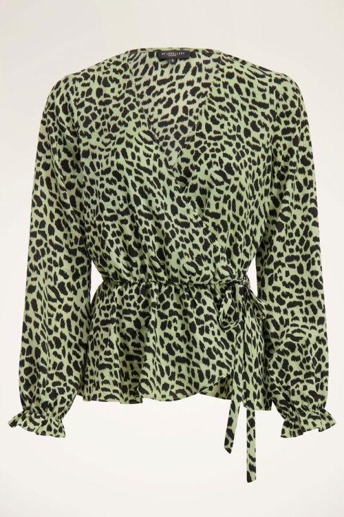 Groene wikkeltop met cheetah | My Jewellery