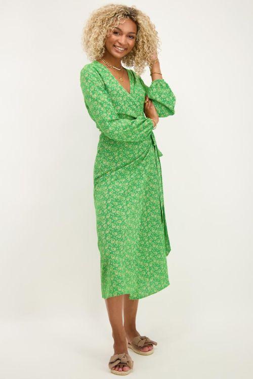 Groene midi jurk met paisley print