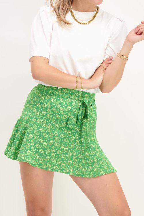 Groene skort met paisley print