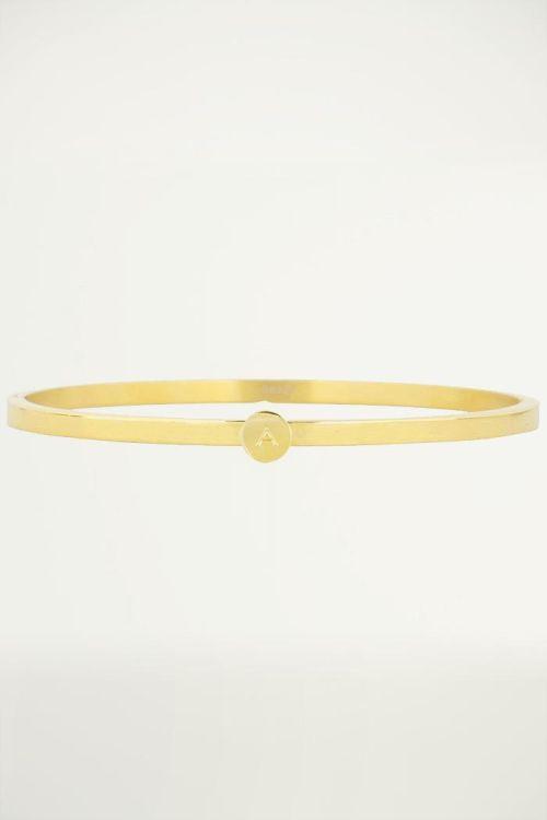 initial bracelets, gold initial bangles