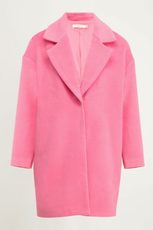 Roze oversized jas, roze coat My Jewellery