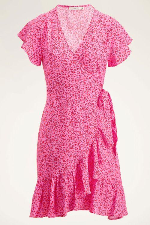 Roze wikkeljurk   Roze jurk   My Jewellery