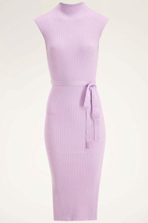 Lila jurk met split | Midi jurk | My Jewellery