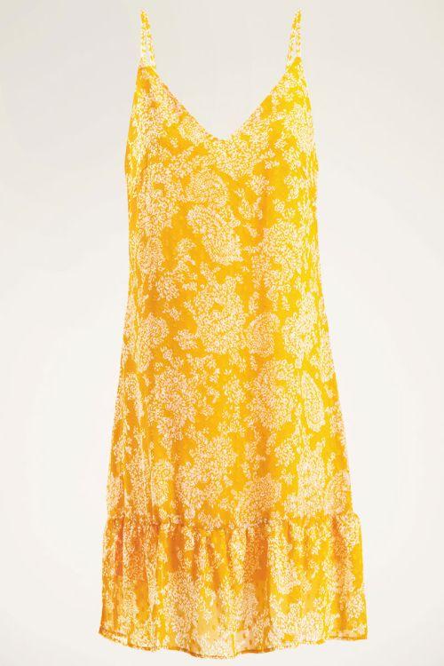 Gele jurk spaghetti bandjes | My Jewellery
