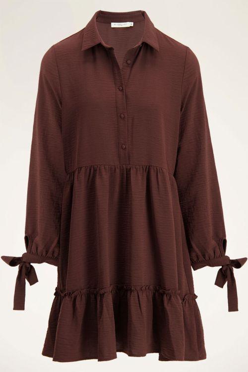 Bruine wijdvallende jurk   My Jewellery