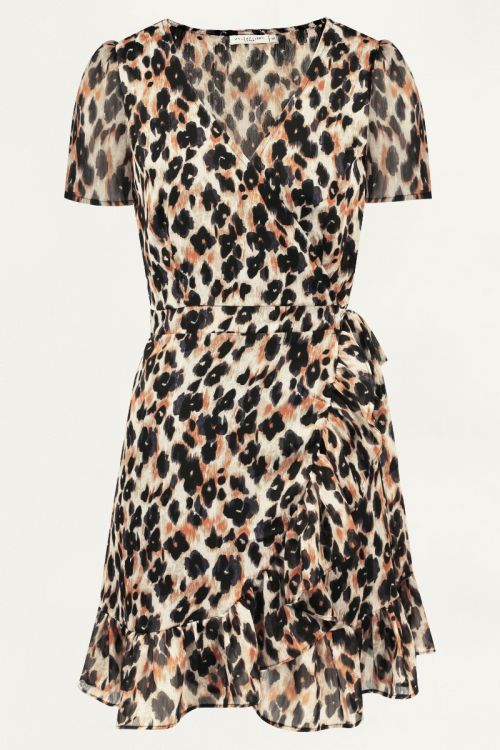 Overslag jurk luipaard, overslagjurk