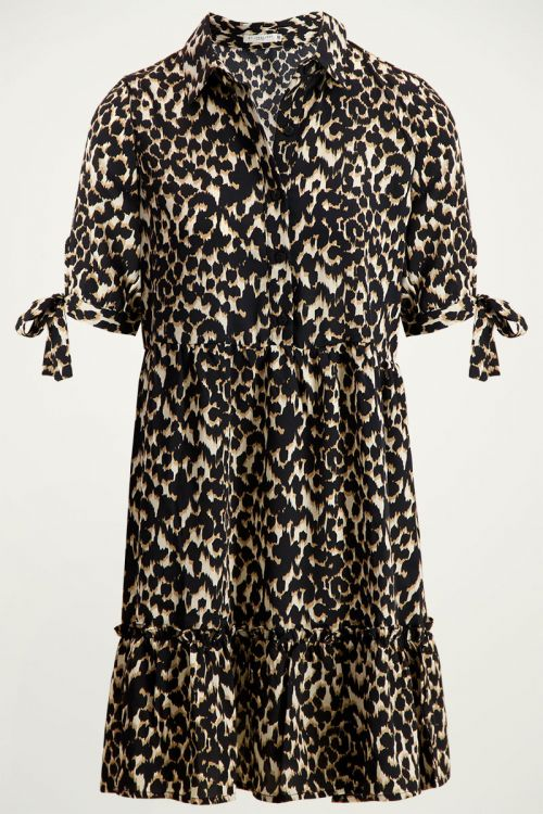 Blousejurk luipaard & ruffles   Panterprint jurk My Jewellery