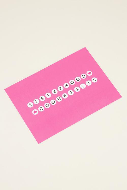 Roze ansichtkaart | My Jewellery kaartje