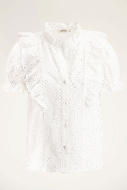 Witte blouse embroidery | My Jewellery