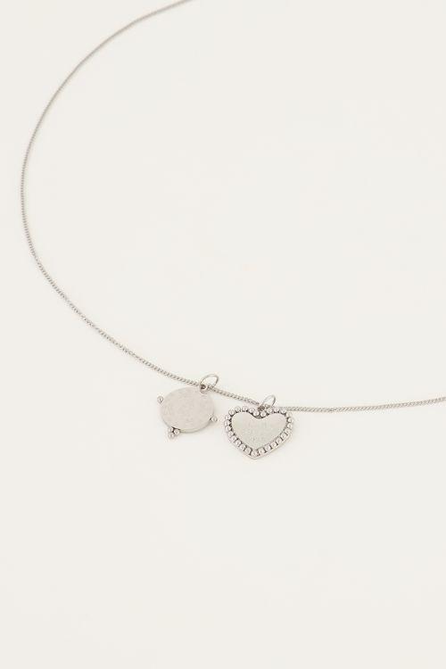 Ketting met bedeltjes rondje & hartje | My Jewellery