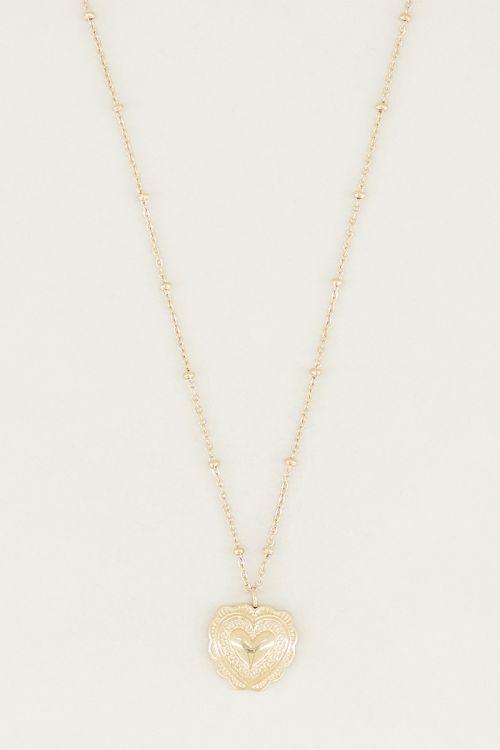 Ketting hartje gedetailleerd, ketting met hanger My Jewellery
