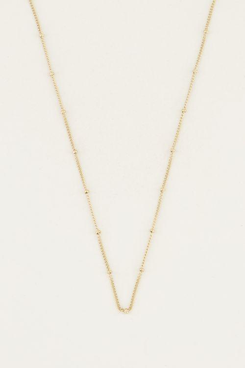 Losse ketting bolletjes | Minimalistische ketting My jewellery