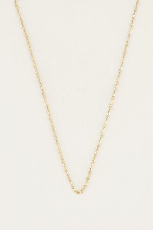 Losse ketting gedraaid | Minimalistische ketting My Jewellery