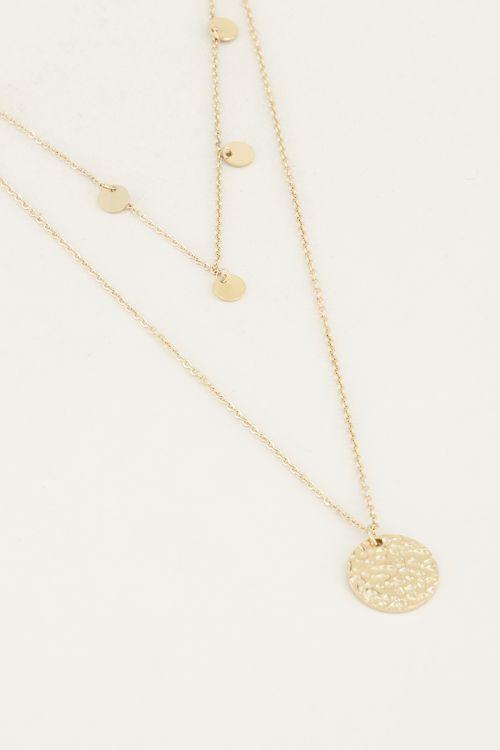 Dubbele ketting muntjes | Ketting met kleine muntjes My Jewellery