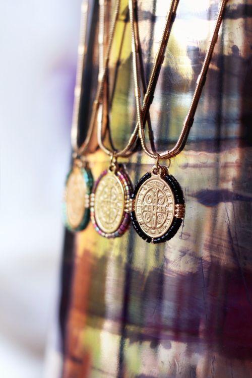 Ketting orientaalse munt zwart, ketting met munt My Jewellery