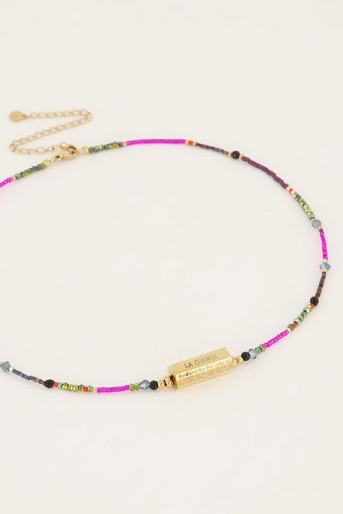 Kralenketting met bedel La Chance   My Jewellery