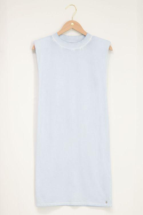 Lichtblauw t-shirt jurk | My Jewellery