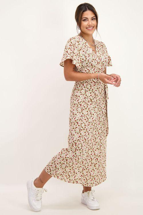 Midi jurk met mini bloemen | midi jurk | My Jewellery