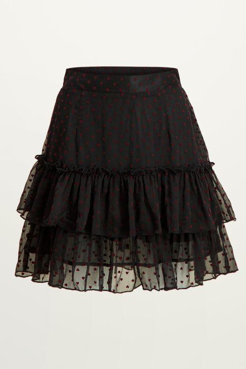 Zwarte rok met hartjes & laagjes, rok met laagjes My Jewellery
