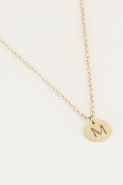 Necklace with gold initial, Initial necklace, Necklaces My Jewellery