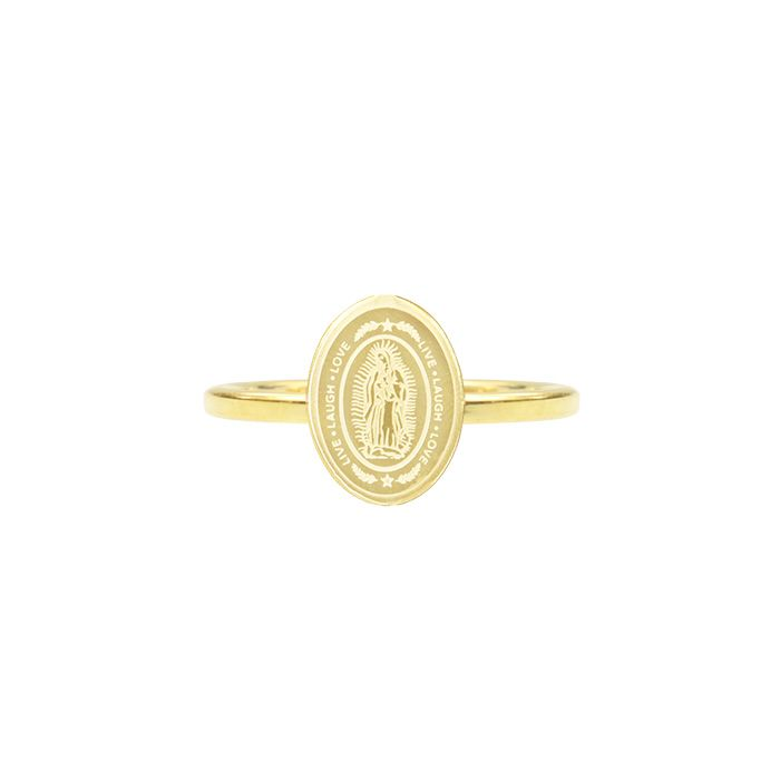 Minimalistisch ringetje ovaal Maria, vintage ringen