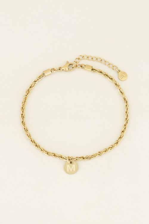 Armband Hanger Letter Goud, Initialen Armband | My Jewellery