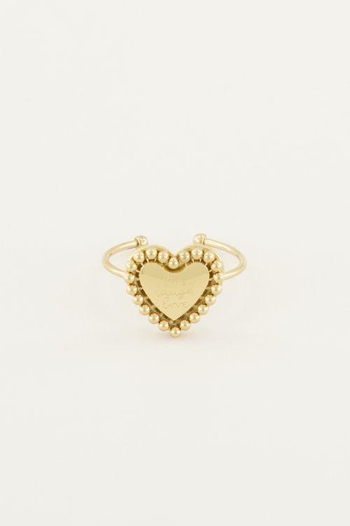 Stalen Ring Hart Quote | Minimalistische Ringen My Jewellery