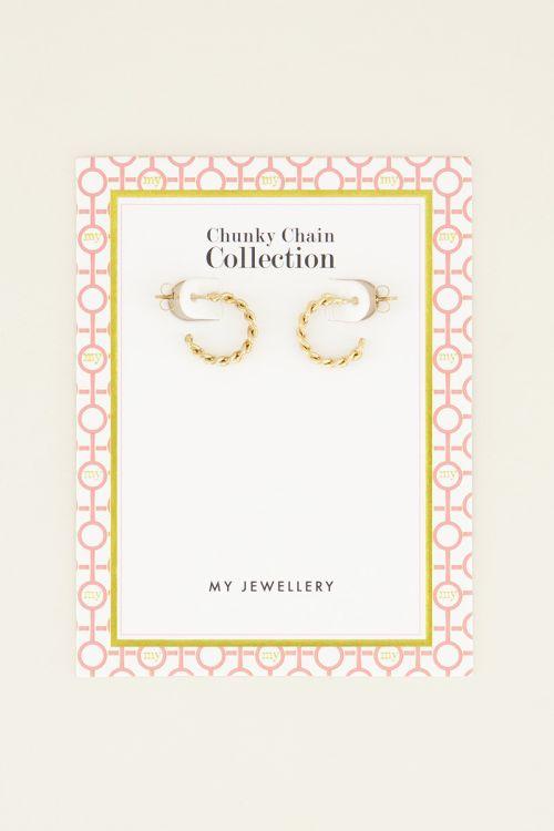 Kleine oorringen schakels | Oorringen | My Jewellery