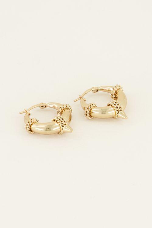 Oorringen ronde schakel   Oorbellen   My Jewellery