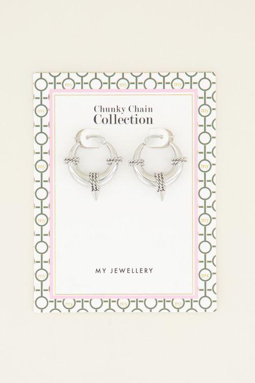 Runde Ohrringe mit Ketten-Detail  Ohrringe  My Jewellery