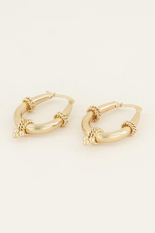 Oorbel ovale schakels | Oorbellen | My Jewellery