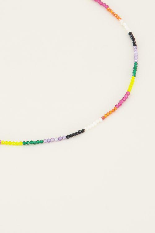 Kralenketting multikleur, korte ketting My Jewellery