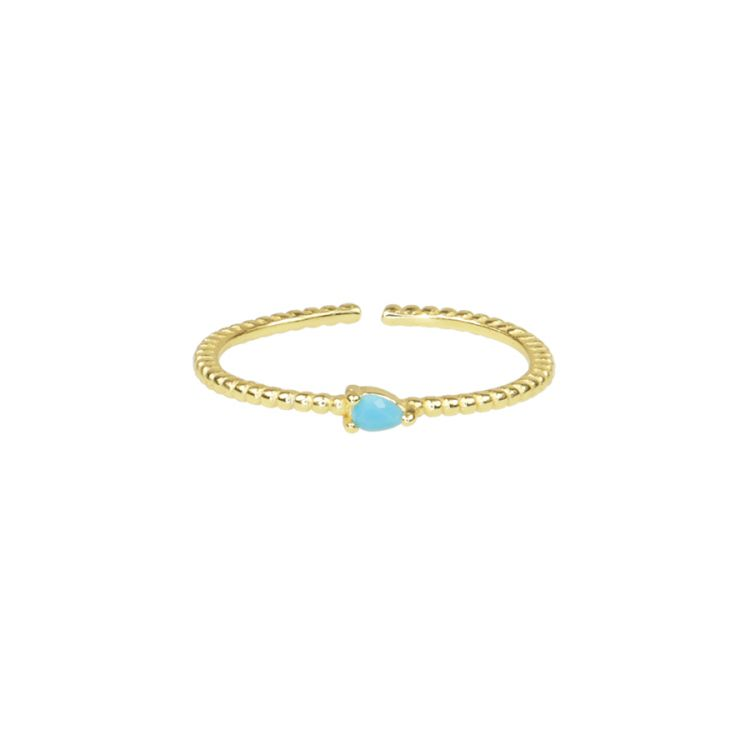 Ring blauw steentje, ring met steen My Jewellery
