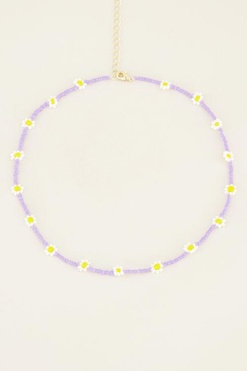Lila choker madeliefjes | My Jewellery