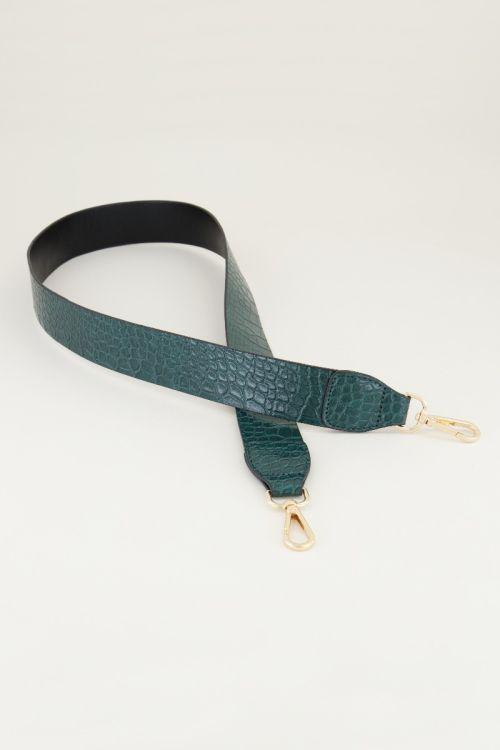 Tashengsel slangenprint groen | tashengsels My Jewellery