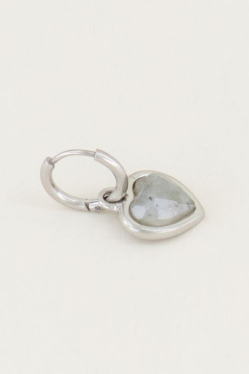 One piece oorring labradorite, oorbellen met edelsteen My Jewellery