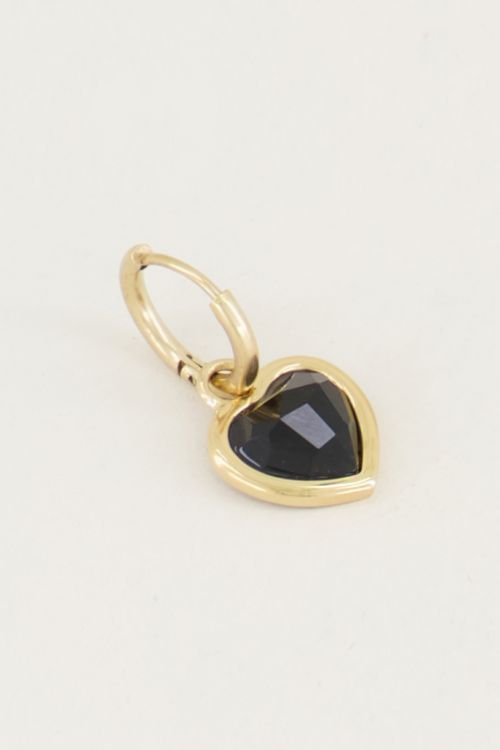 One piece oorring Black Onyx, edelsteen oorbellen