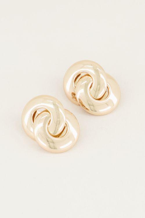 Double hoop drop earrings, statement earrings My Jewellery