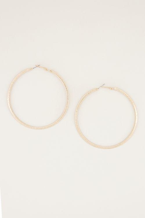 Basic large rib earrings, basic earrings My Jewellery