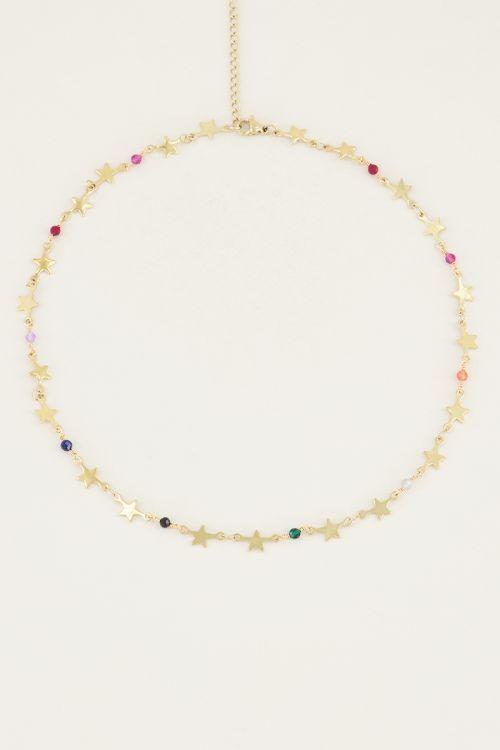 Ketting met sterretjes en kralen | Sterren ketting My Jewellery