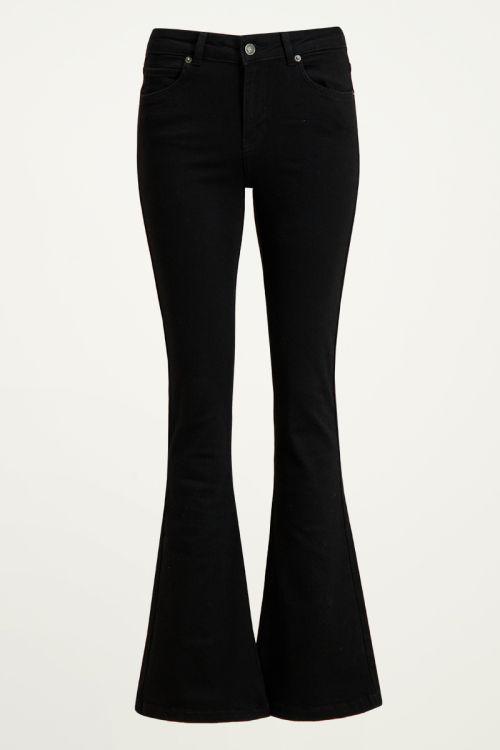 Zwarte flared jeans, zwarte flared broek My Jewellery