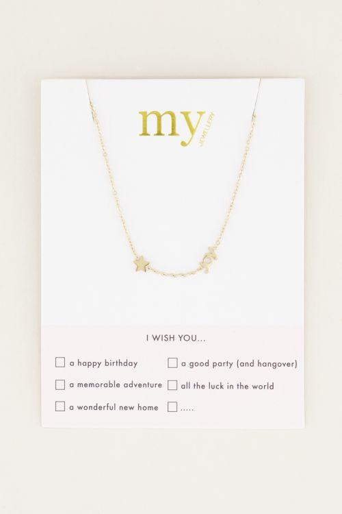 Joy ketting met ster | Ketting als cadeau van My Jewellery