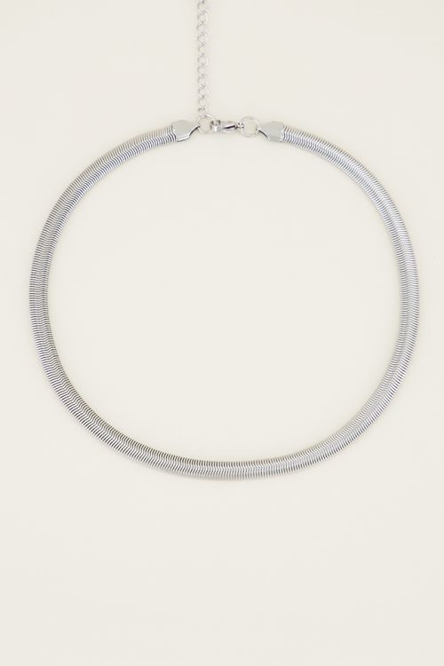 Necklace with flat chain links | Necklace without pendant My Jewellery