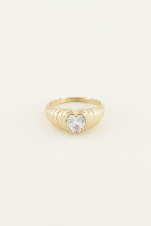 Ring Zirkonia hartje | Zirkonia ring My Jewellery