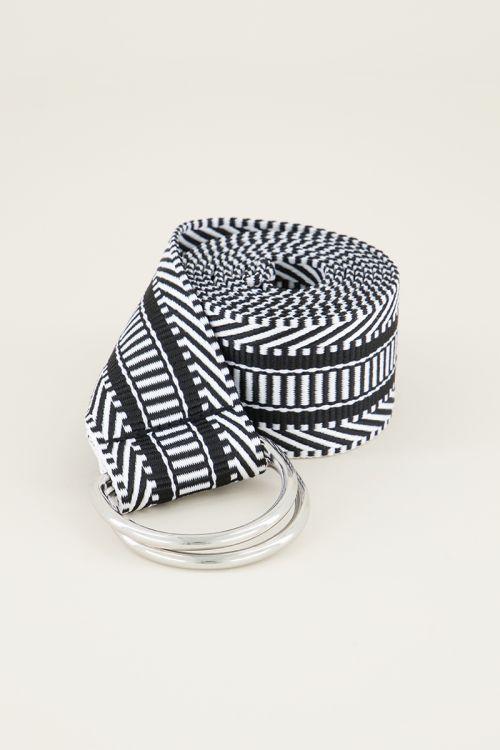 Riem met gevlochten patroon  | Riem met print My Jewellery