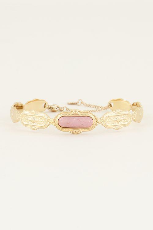 Bangle roze steen | Bangles | Bangle armband My Jewellery