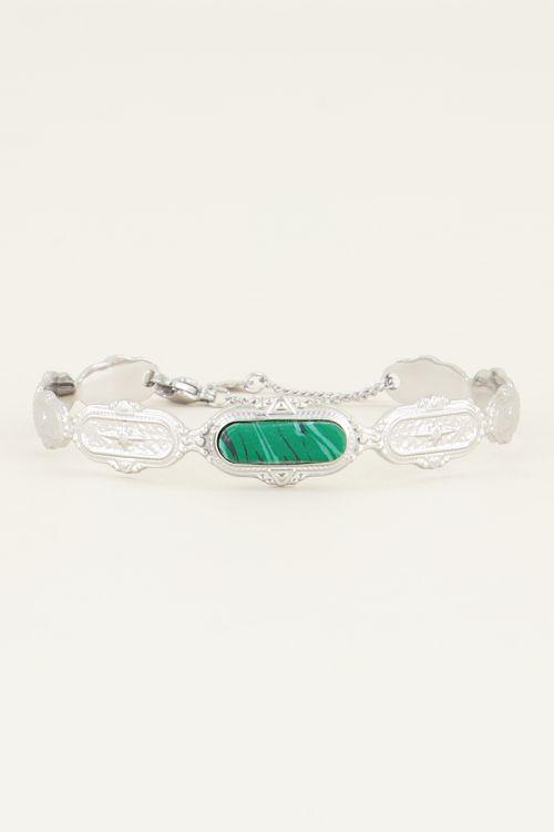 Bangle groene steen| Bangles | Bangle armband  My Jewellery