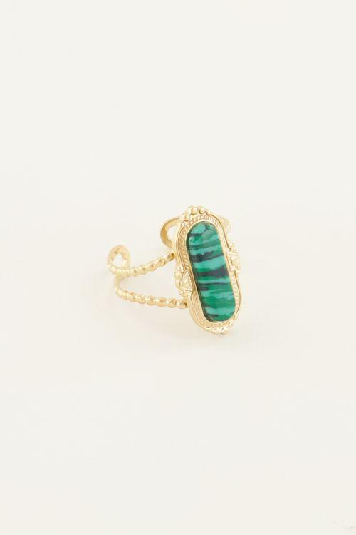 Ring groene steen   Ring met steen   Ringen dames My Jewellery
