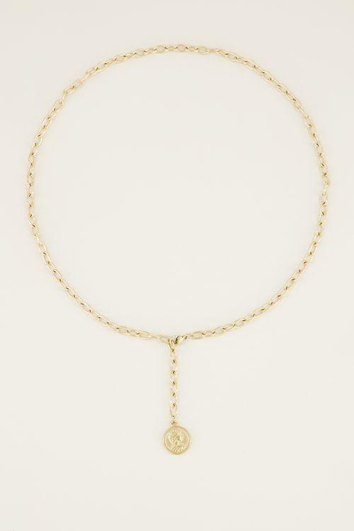 Ketting y vorm met munt   Munt ketting bij My Jewellery