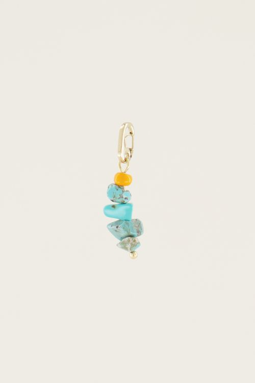 Moments charm blue stone | Bedels sieraden My Jewellery